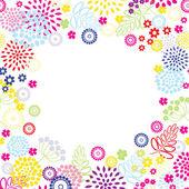 Summer flowers frame. — Stock Vector