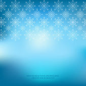 Winter snowflakes ornate blue background. — Stock Vector
