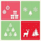 Conjunto de imagens de celebração de inverno. — Vetorial Stock