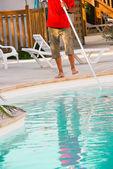 Pool maintenance — Stock Photo