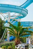 Blue water slide — Stock Photo