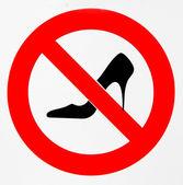 Chaussures à talon interdites — Stock Photo