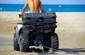 Aplanir le sable — Stock Photo