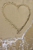 Coeur dans le sable — Stock Photo