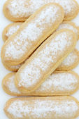 Biscuits and Champagne Icing Sugar — Stock Photo
