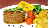 Sappige biefstuk — Stockfoto