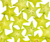 Carambola background — Stock Photo