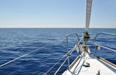 View from the deck of sailboat — Stock Photo