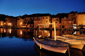 Night harbour — Stock Photo