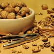 Cracking nuts — Stock Photo