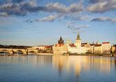 Prague embankment — Stock Photo