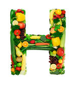 Healthy alphabet - H — Stock Photo