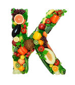 Healthy alphabet - K — Stock Photo