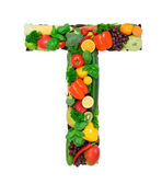 Healthy alphabet - T — Stock Photo