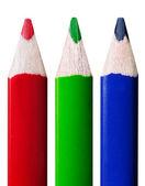 RGB colored pencils — Stock Photo