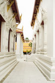 Passage between the buildings of the temple — Stock Photo