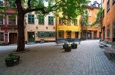 Plaza de la ciudad vieja de estocolmo. — Foto de Stock