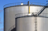 Fuel storage tanks. — Stock Photo