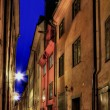 Stockholm Old Town at night. - Stock Photo