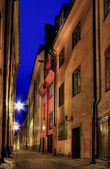 Stockholm Old Town at night. — Stock Photo