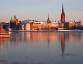 Riddarholmen, stockholm v zimě. — Stock fotografie