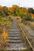 Old railroad tracks. — 图库照片