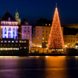 Christmas in Stockholm city. — Stock Photo