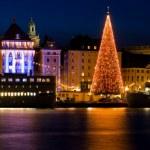 Boże Narodzenie w mieście Sztokholm — Zdjęcie stockowe