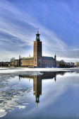 Stockholm City hall in winter. — Stock Photo