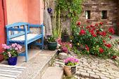Old colourful garden. — Stock Photo
