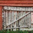 Old rustic barn door. — Stock Photo
