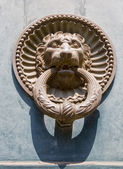 Antique door knocker. — Stock Photo