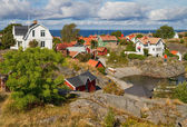 Idyllic village in Stockholm archipelago. — Stock Photo
