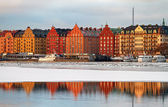 Winter image from Kungsholmen, Stockholm. — Foto de Stock