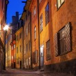 Night image from stockholm Gamla stan area. — Stock Photo