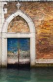 Venedig-haustür. — Stockfoto