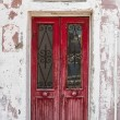 Old red wooden door. — Stock Photo