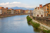 City of Pisa with river Arno. — Stock Photo