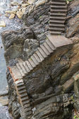 Steep stone stairway. — Stock Photo