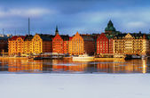 Stockholm, Kungsholmen and Riddarfjarden in winter. — Stock Photo