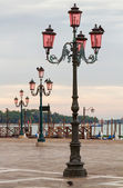 Vintage lampposts in Venice. — Stock Photo