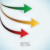 Abstract vectror arrows — Stock Vector