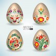 Abstract vector eggs - Stock Vector