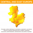 Central and East Europe vector map — Imagen vectorial