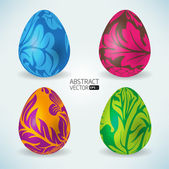 Abstract vector easter eggs — Stock Vector