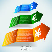 Increasing currency abstract vector background — Stock Vector