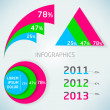 Stock Photo: Abstract vector colorful infographics charts