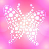 Abstract pink butterfly vector background — Stock Photo