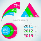 Abstract vector colorful infographics charts — Stock Photo