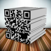 3d qr code vector object — Stock Photo